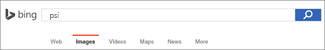 Upit unet u okvir Bing pretrage slika