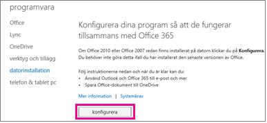 Konfigurera datorprogrammen så att de fungerar med Office 365