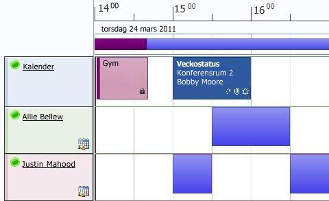 Schemavyn för kalendrar