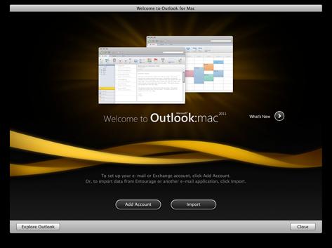 Startskärmen i Outlook