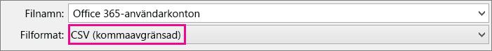 En bild om hur du sparar en fil i Excel i CSV-format