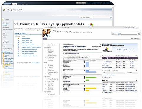 Webbplatser du kan skapa med SharePoint Designer 2010