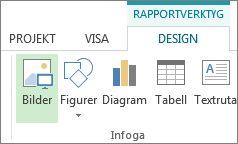 Fliken Design under Rapportverktyg