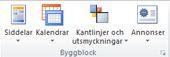 Byggblocksgrupper i Publisher 2010