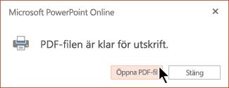 PDF-filen är klar