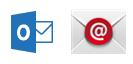 Outlook-appen och den inbyggda e-postappen för Android
