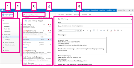 E-post i Outlook Web App