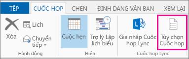 Nút Tùy chọn Cuộc họp trong Outlook 2013