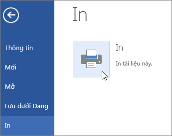 Nút In dạng PDF trong Word Online