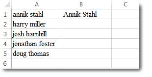 Danh sách tên viết bằng chữ thường