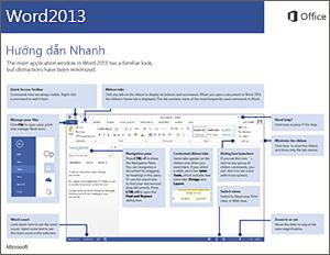 Hướng dẫn Bắt đầu Nhanh dành cho Word 2013