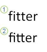 使用連音符號的文字